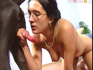 Mom Rides Stepson And Begs For Animal Porn